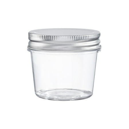 Clear Plastic Cylinders With Lids (Darice Clear Plastic 4 Oz Jars with Lids, 2.25 x 2.5 Inches, 10)