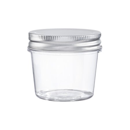 Darice Clear Plastic 4 Oz Jars with Lids, 2.25 x 2.5 Inches, 10 Pack Plastic Sundry Jars