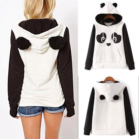 Women's Hoodie Sweatshirt Jumper Sweater Hooded Pullover Coat Tops Panda JacketS - Panda Hoodie