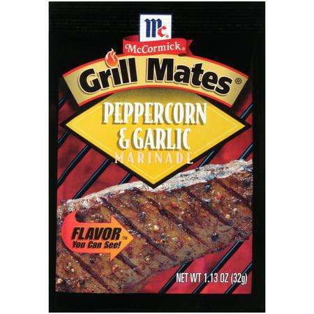 Mix Grill - (4 Pack) McCormick Grill Mates Peppercorn & Garlic Marinade Mix, 1.13 oz
