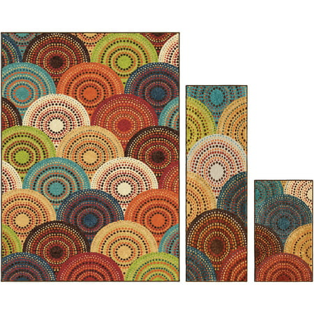 better homes and gardens bright dotted circles multi 3 87781