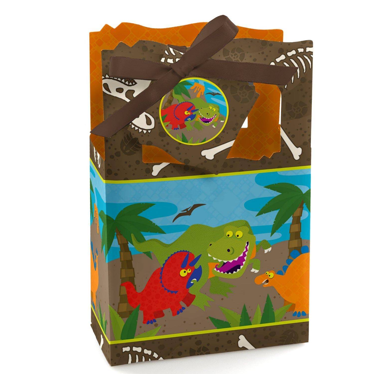 Dinosaur Birthday - Party Favor Boxes - Set of 12