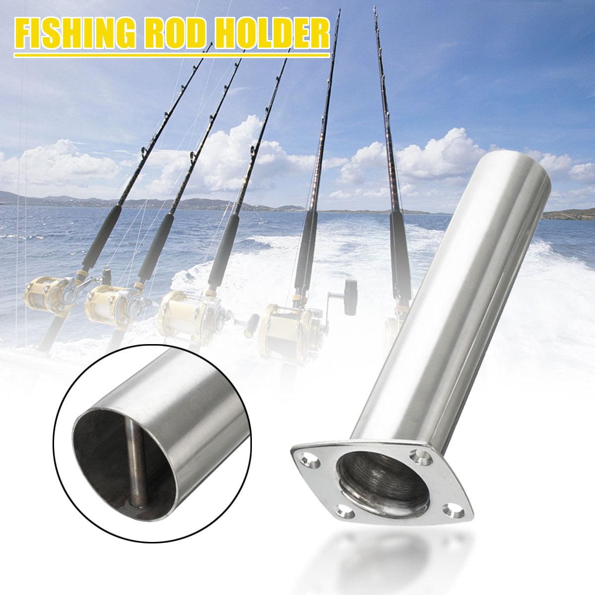 Set of 2 fishing Rod Holder Flush Mount Stainless Steel for Boat 90 Degree