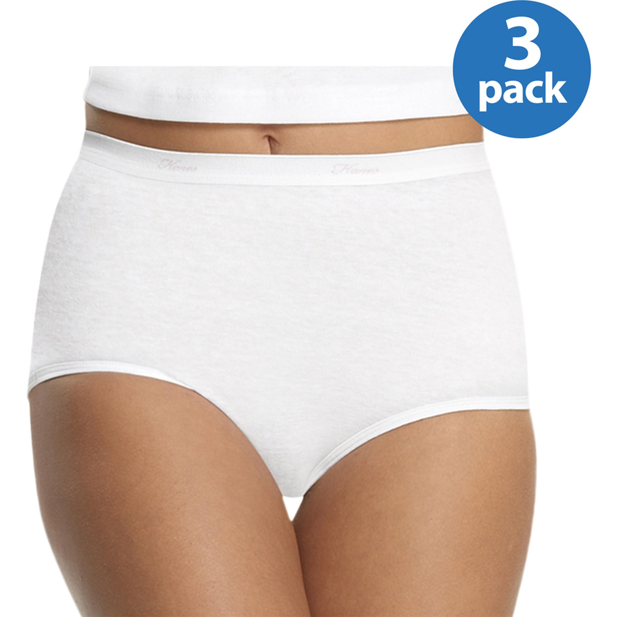Hanes Women's Cotton Briefs, 3-Pack