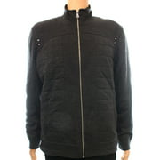INC NEW Charcoal Gray Quilted Mens Size XL Full Zip Long Sleeve Sweater