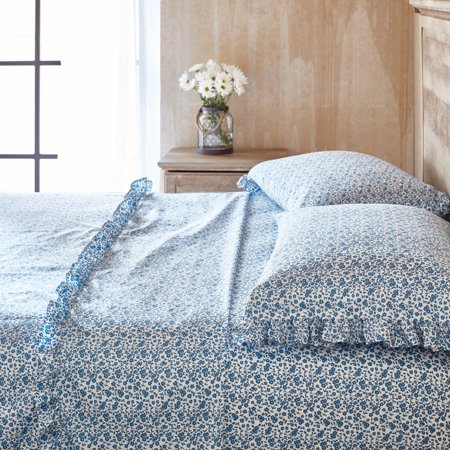The Pioneer Woman Calico Floral Ruffle Sheet Set