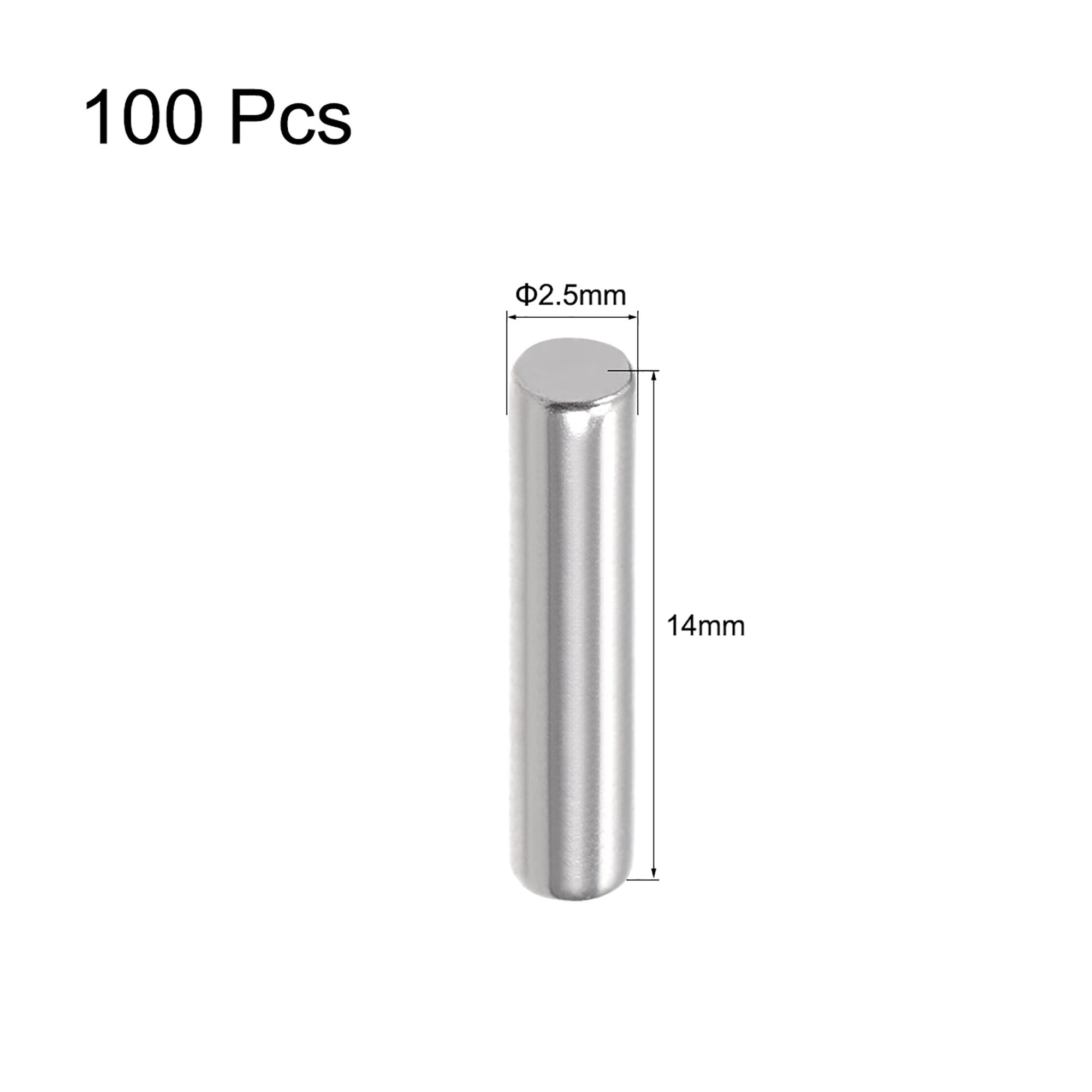 100Pcs 2.5mm x 14mm Dowel Pin 304 Stainless Steel Shelf Support Pin Fasten Elements Silver Tone - image 1 de 2