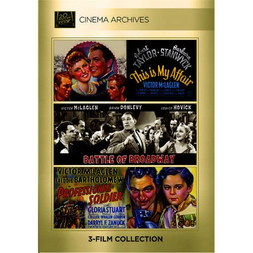Cinema Archives Set: This Is My Affair   Battle of Broadway   Professional Soldier (DVD) by Ingram Entertainment