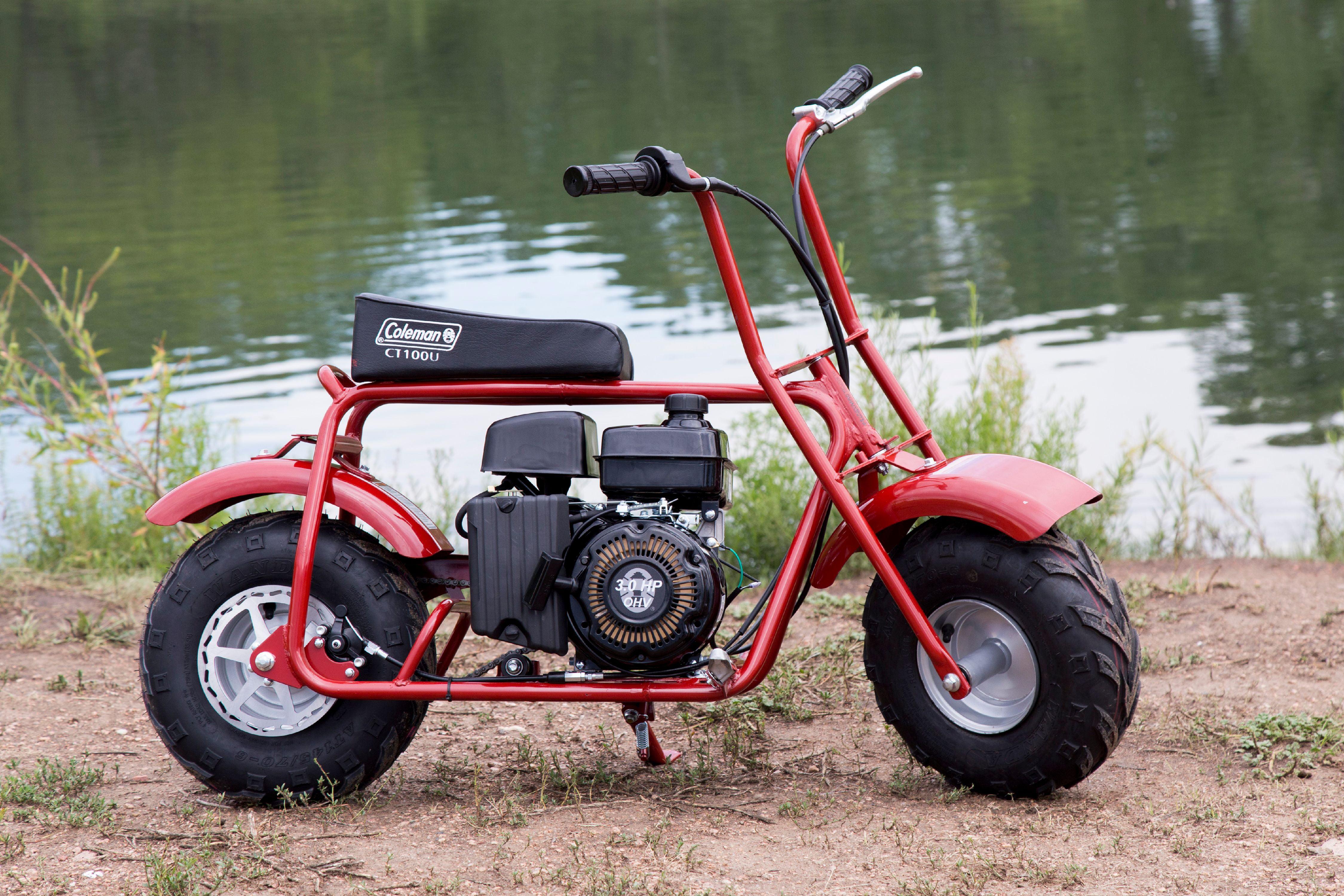 new coleman 100cc gas trail mini bike commuter dirt. Black Bedroom Furniture Sets. Home Design Ideas