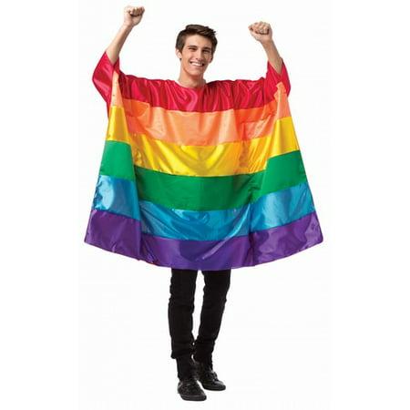 Rainbow Flag Tunic Men's Adult Halloween Costume, One Size, (40-46)