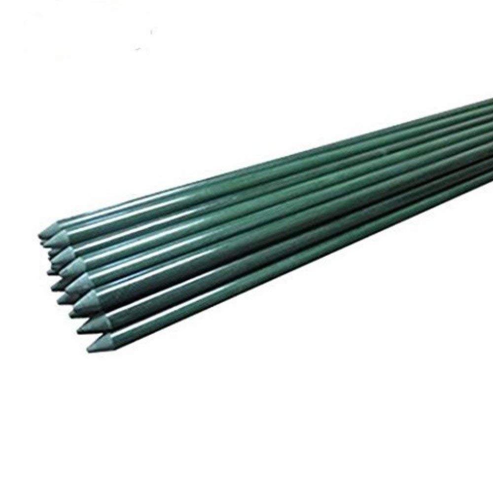 Ecostake Garden Stakes 6-Ft for Climbing Plants Supports Pole 10 Pack Rust-free Plant Sticks Fence Post by Wellco Industries Inc.