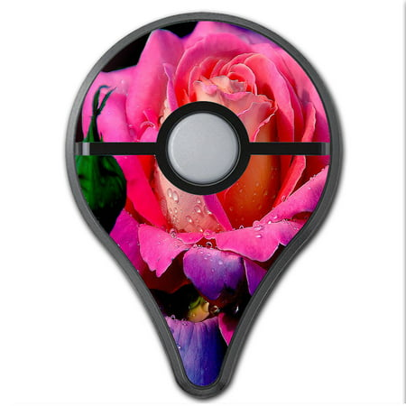 - Skins Decals For Pokemon Go Plus (2-Pack) Cover / Beautiful Rose Flower Pink Purple