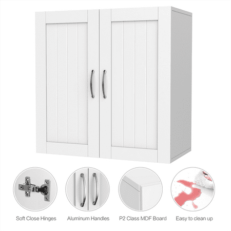 Wall Mount Bathroom Cabinet Cupboard Storage Adjustable Shelf Kitchen Laundry - Shaker Wall Cupboard