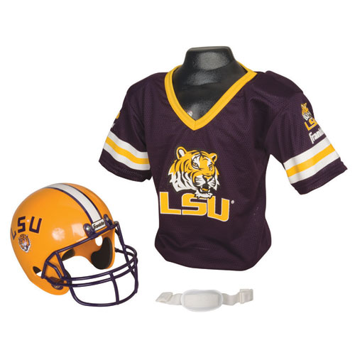 Franklin Sports FRA-15520F08 Lsu Tigers Youth Ncaa Helmet And Jersey Set