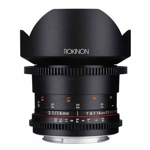 ROKINON 14mm T3.1/f2.8 Cine Super-Wide-Angle Lens for Sony E-Mount Cameras
