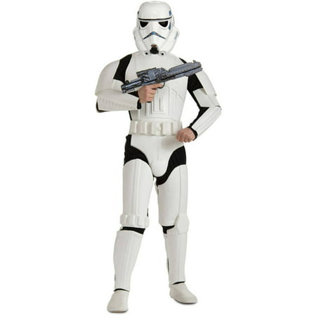 Star Wars Deluxe Stormtrooper Adult Halloween Costume, One Size 46-52 - Real Stormtrooper Costume For Sale