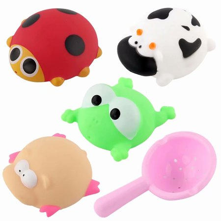 5PCS Baby Cute Cartoon Animals Bathing Swimming Pool Float Toy Set Water Funny Play Toys,Kids Bath Toy, Baby Bathing Toy Set(Random Colors)