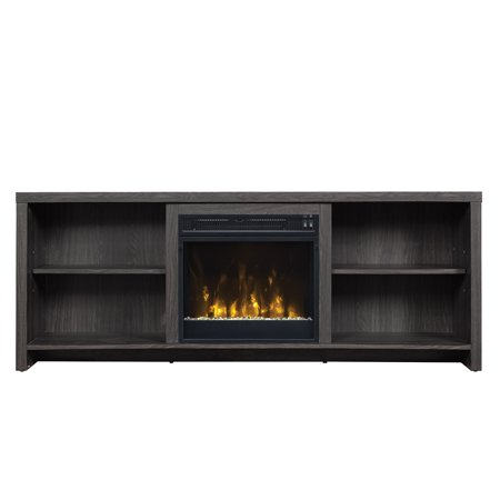 seasons glen black walnut fireplace tv stand for tvs up to 65. Black Bedroom Furniture Sets. Home Design Ideas