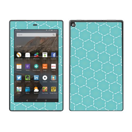 Skins Decals For Amazon Fire Hd 8 Tablet   Blue Hexagon
