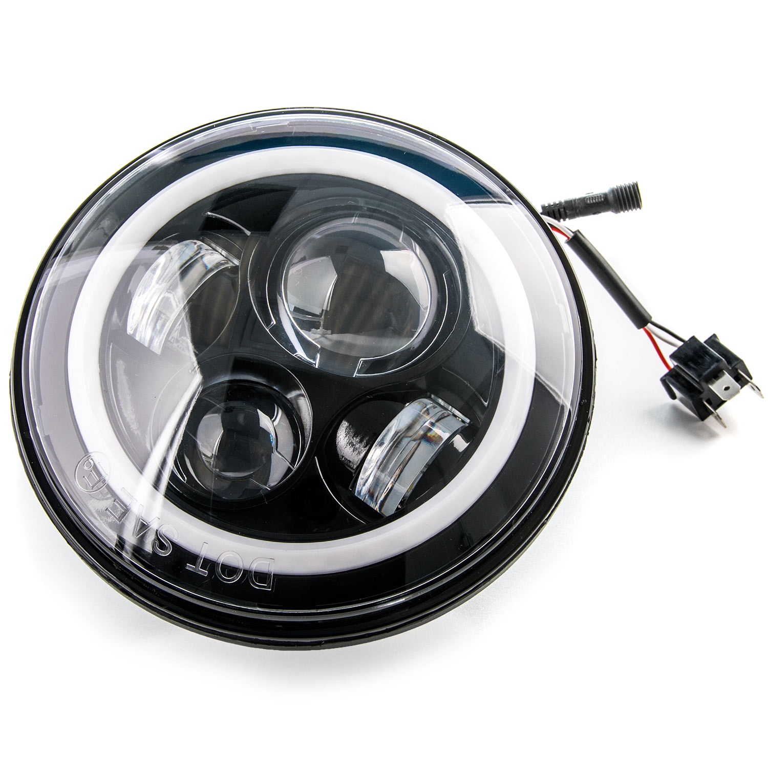 Led 7 Headlight Bluetooth Rgb Halo Ring Light For Harley Davidson 07 Jeep Wr Angler Wiring Motorcycles 2007 2016 Wrangler Unlimited 4 Door Jk Requires 2 Headlights