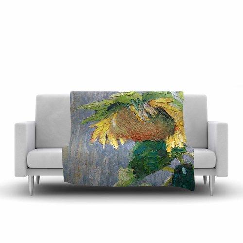 East Urban Home Carol Schiff Lonely Sunflower Nature Fleece Blanket