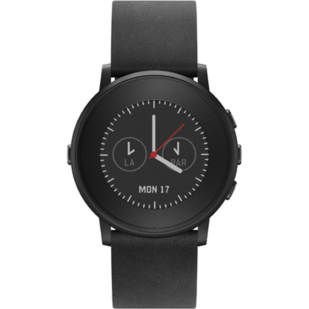 Pebble Time Round 20mm Smart Watch for iPhone and Android Devices - Black