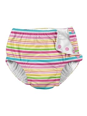 i play. Snap Reusable Absorbent Swimsuit Diaper (Baby Girls & Toddler Girls)