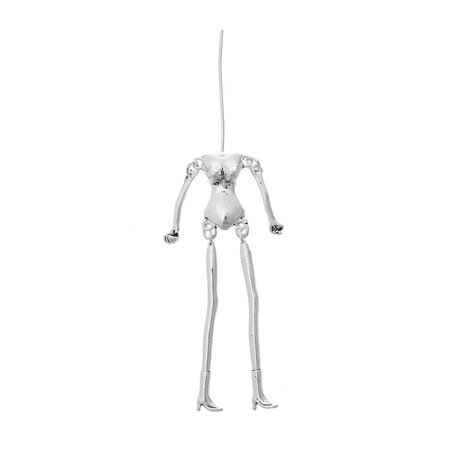 Sexy Sparkles 1 Pc. Body DIY Toy Doll Making Antique Silver Lead Nickel Free 3-4/8