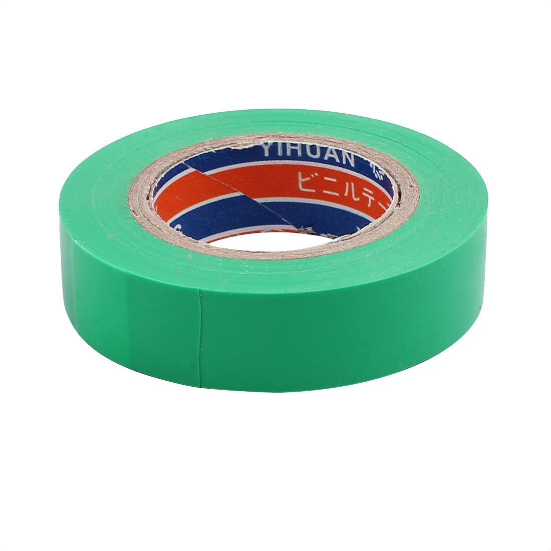 17mm Width PVC Green Electrical Insulation Warning Adhesive Tape 20M Lenth - image 1 de 3
