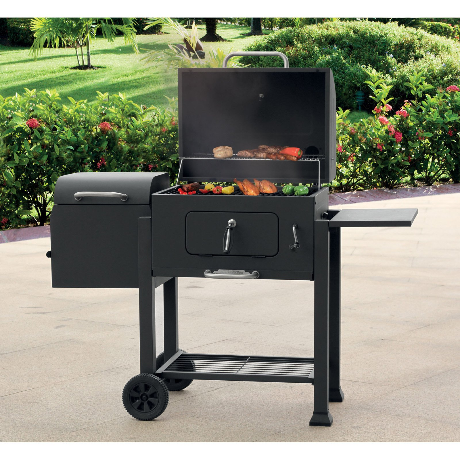 Landmann USA Vista Barbecue Charcoal Grill with Offset Smoker Box by Charcoal Grills