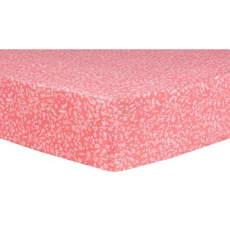 Pink Prairie Fitted Crib Sheet Prairie Fitted Sheet