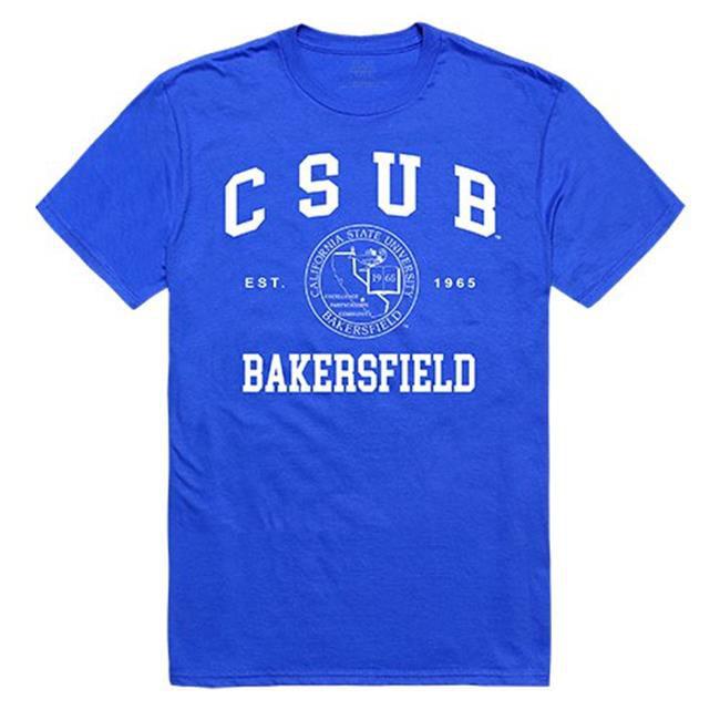 W Republic Apparel 526-203-RYL-05 California State University, Bakersfield Seal Tee, Royal - 2XL - image 1 of 1