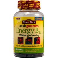 Nature Made Adult Gummies Energy B12 1000mcg Cherry & Wild Berries - 80 CT
