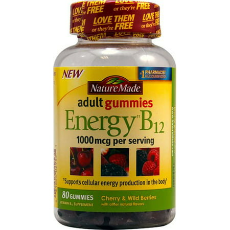 Nature Made Adult Gummies Energy B12 1000mcg Cherry & Wild Berries - 80 -