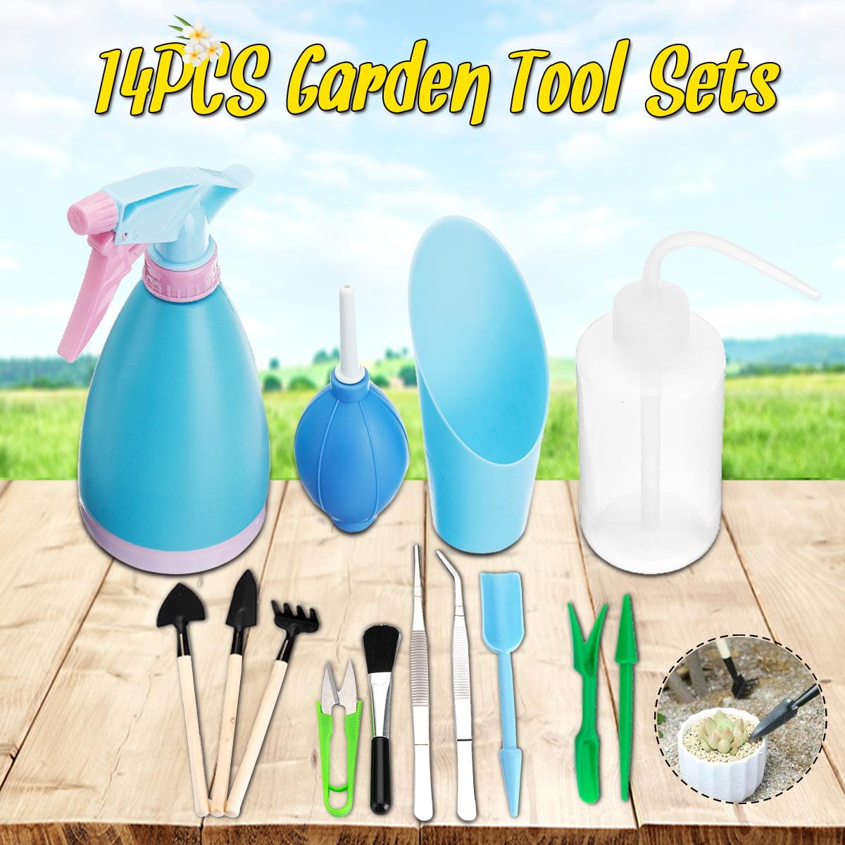 14PCS Mini Gardening Tool Set Potted Fleshy Garden Hand Tools Set Bonsai Plants