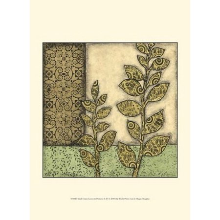 Sm Pull Green - Sm Green Leaves & Patterns II (P) Poster Print by Megan Meagher (10 x 13)