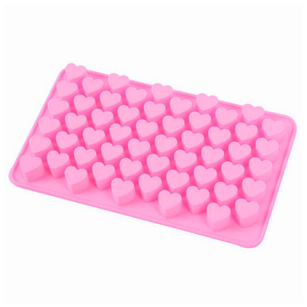 ZEDWELL Silicone Mini Heart Shape Silicone Ice Cube Candy Mold Chocolate Mold