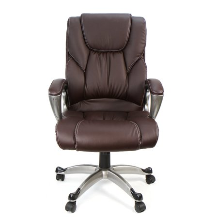 High Back PU Leather Executive Office Chair Ergonomic Computer Desk Task Swiv