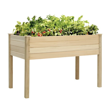 Kinbor Wooden Raised Garden Bed Elevated Planter Kit Grow Flower Vegetables - Wooden Garden Boxes