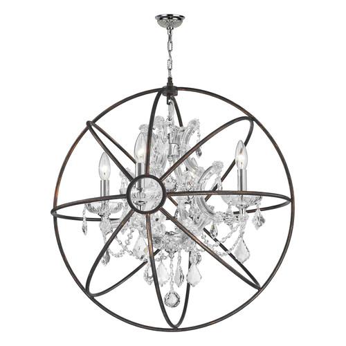 Worldwide Lighting Armillary 4 Light Led Globe Pendant