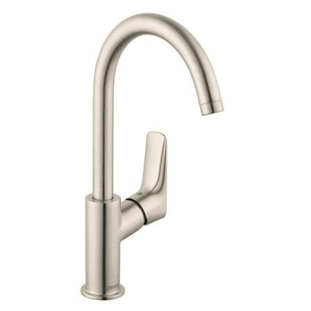 Hansgrohe 71130821 Logis 210 Single Hole Faucet, Brushed (210 Single)