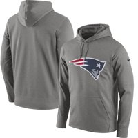 New England Patriots Nike Circuit Logo Essential Performance Pullover Hoodie - Gray
