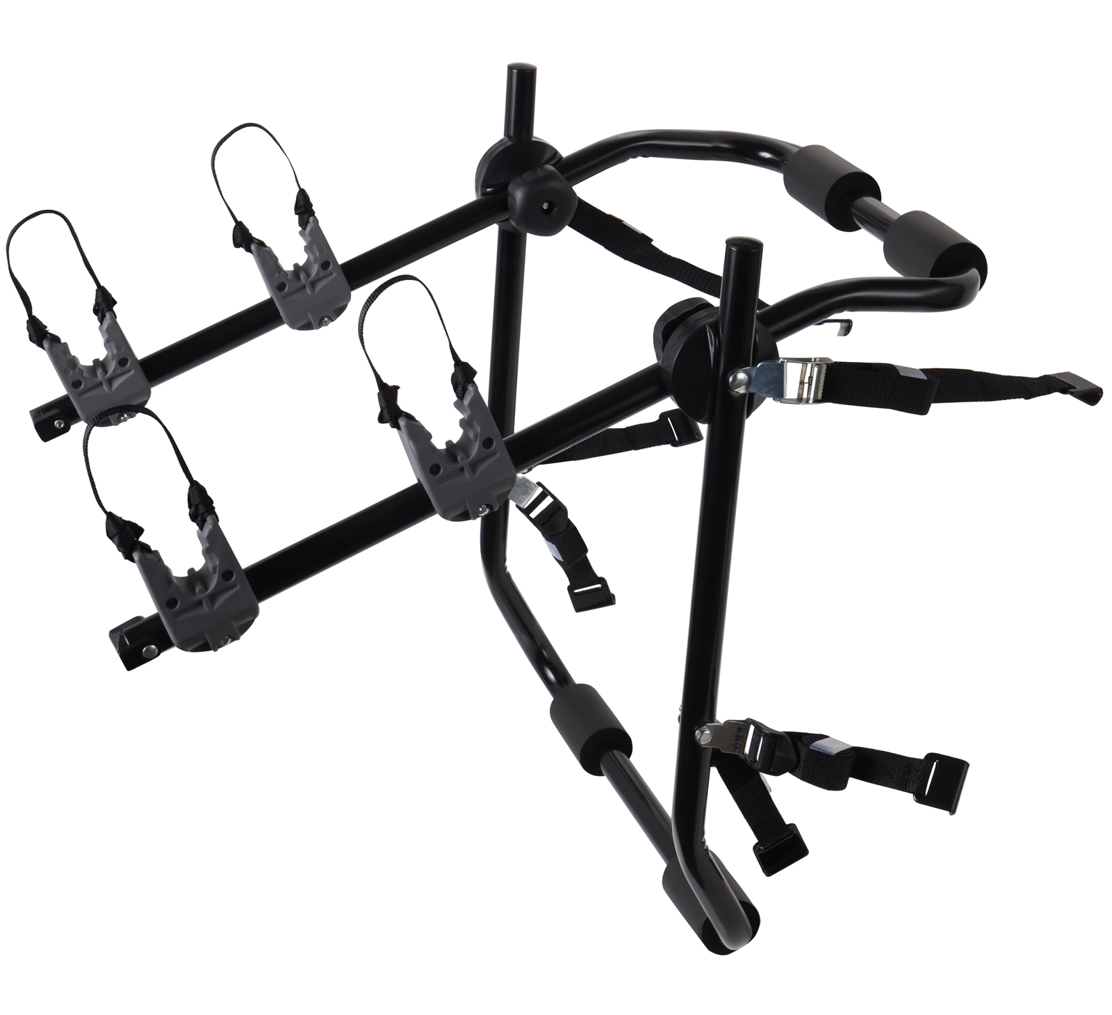 OxGord Two Bike Trunk Rack Mount For Cycling Hitch Carrier For Most Sedan Cars