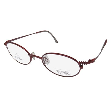 New Adidas A966 Unisex/Boys/Girls/Kids Oval Full-Rim Cherry Red Modern European Hip Children Kids Frame Demo Lenses 45-18-125 Eyeglasses/Eyeglass (Boys Eyeglasses Frames)