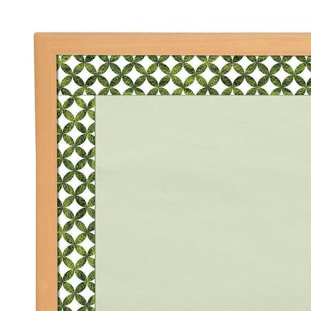 Fun Express - Sgs Moss Lattice Bb Borders - Educational - Classroom Decorations - Bulletin Board Decor - 12 Pieces (Bulletin Board Decorations)