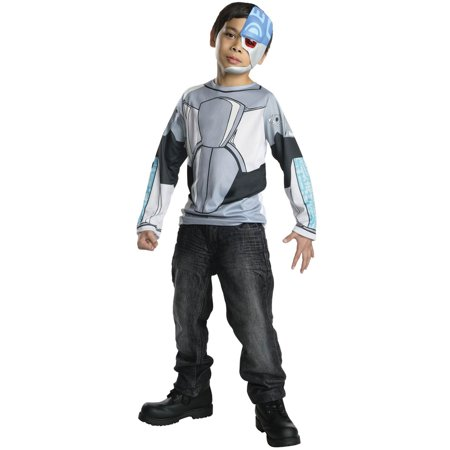 Kids Teen Titans Cyborg Costume Top](Clash Of The Titans Costumes Halloween)