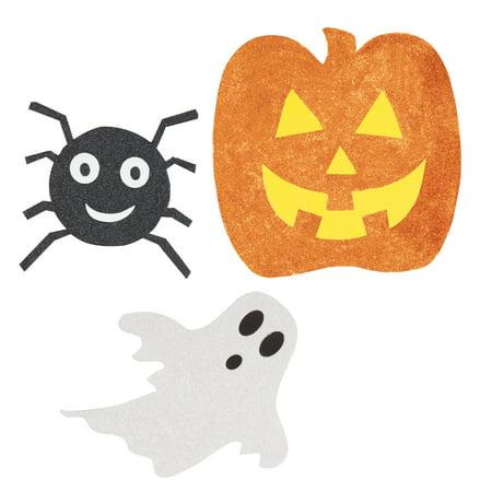 Glitter Paper Cutout Halloween Decorations, Assorted, 6ct