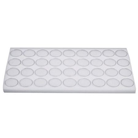 36 White Foam Gem Jars Gemstone Storage Display Tray Insert, This is a new white gem jar tray insert that contains removable clear plastic round jars By - Removable Plastic Inserts