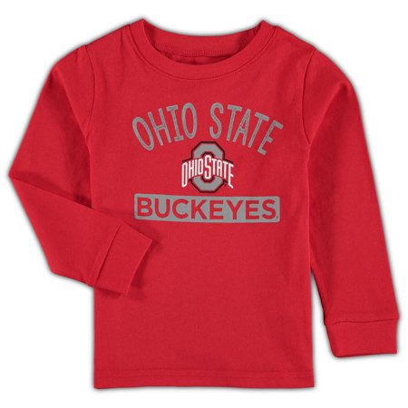 Ohio State Buckeyes Toddler Team Color Long Sleeve T-Shirt - Scarlet