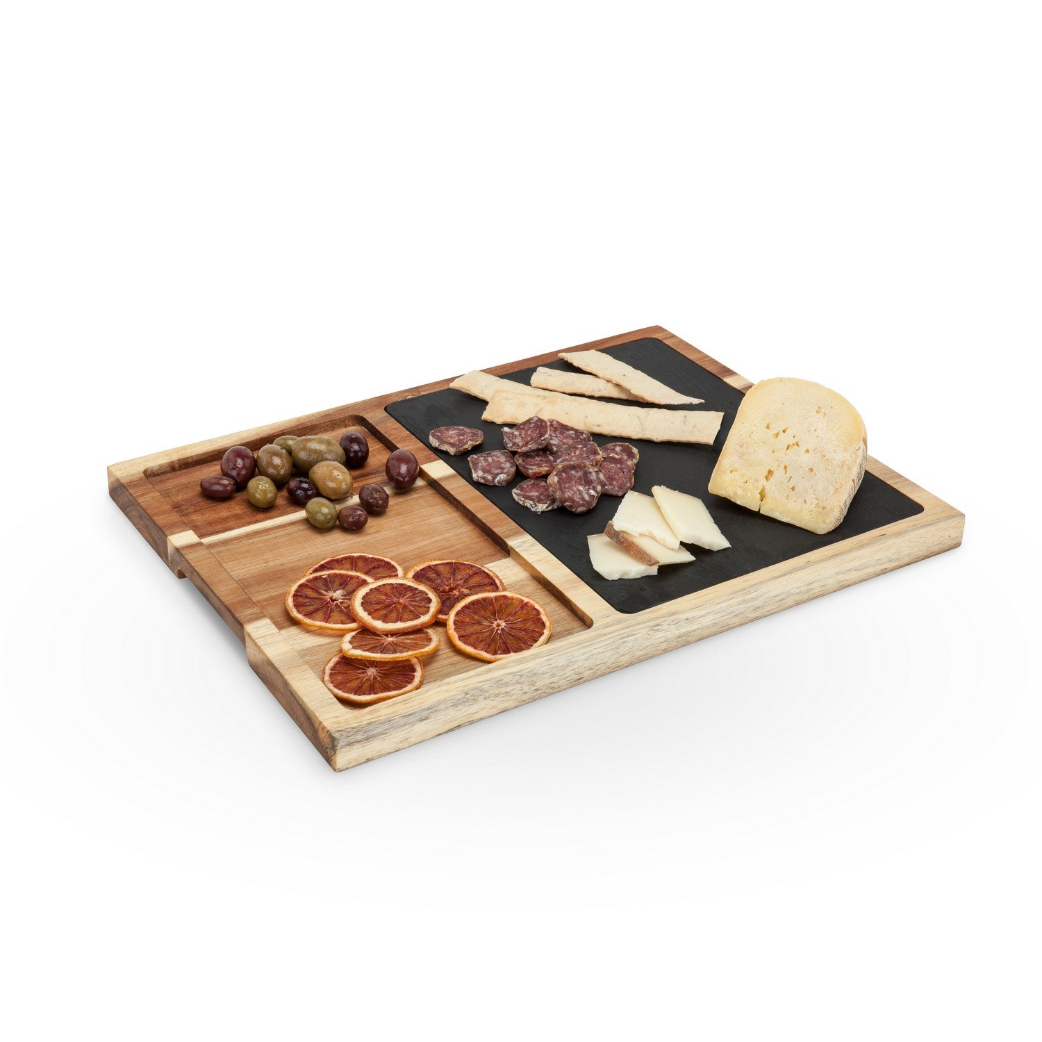 Cheese Serving Board, Slate And Acacia Wood Rustic Elegant Cheese Boards